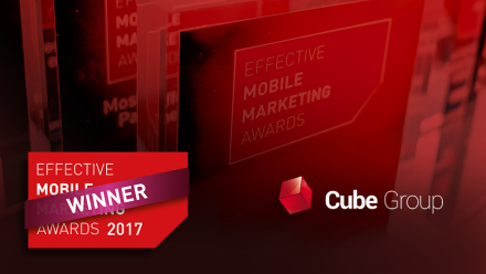 Cube Group z nagrodą w konkursie Effective Mobile Marketing Awards jako jedyna agencja z Polski