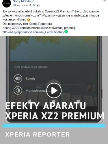 Jak robić zdjęcia smartfonem Sony Xperia XZ2 Premium