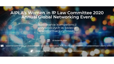 AIPLA's Women in IP Law Committee 2020 już 2 kwietnia
