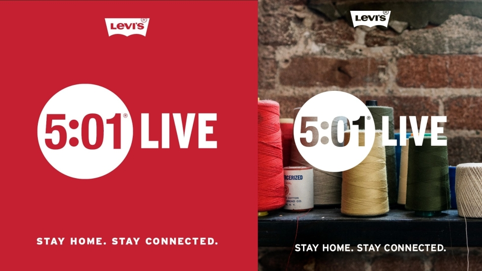 "Levi's Europe prezentuje projekt ""5:01 Live – Stay Home, Stay Connected"""