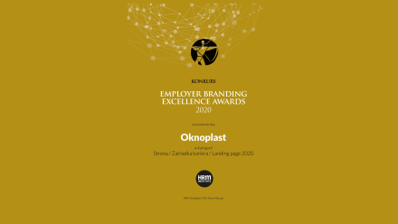 OKNOPLAST doceniony w konkursie Employer Branding Excellence Awards 2020