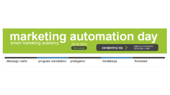 Marketing Automation Day jesienią w Warszawie