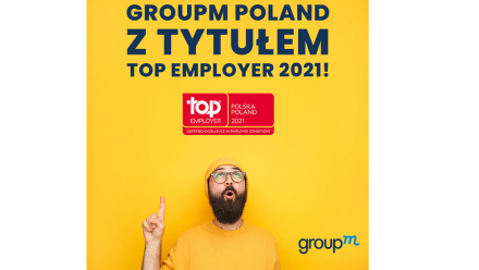 GroupM Poland z tytułem Top Employer 2021