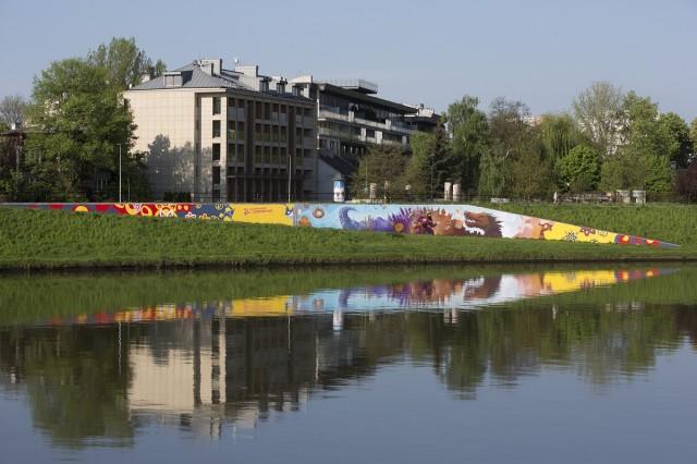 Mural oczyszczający powietrze w Krakowie