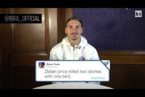 Soccer Legend Zlatan Ibrahimovic Reads His Favorite 'Zlatan Facts'