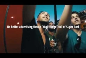 Super Bock Beer: Refrigerated beer billboard for Facebook friends